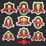Beer labels set 2. Set of designed beer labels royalty free illustration