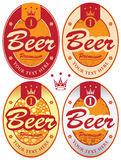 Beer labels Stock Photography