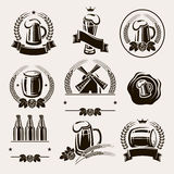 Beer labels set. Vector Stock Photography