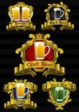 Beer Labels. Vector set Beer labels signs symbols Stock Image