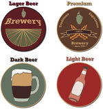 Beer lables Royalty Free Stock Images