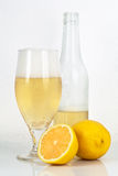 Beer With Lemon Flavor Royalty Free Stock Images