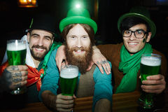 Beer leprechauns royalty free stock images