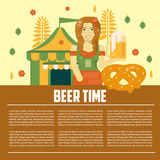 Beer letterhead template Royalty Free Stock Images