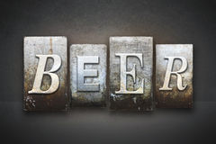 Beer Letterpress Royalty Free Stock Image