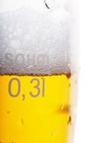 Beer level Stock Photography