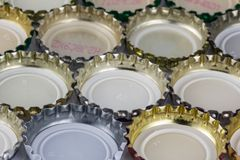 Beer lids Royalty Free Stock Photos