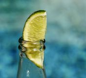 Beer with lime Stock Images