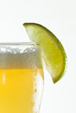 Beer with lime Stock Image