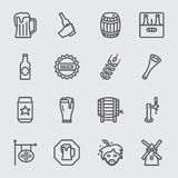 Beer line icon Stock Image