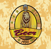 Beer lion ,banners on topic with beer Royalty Free Stock Photos