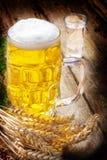 Beer, liquor and wheat Stock Photo