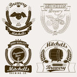 Beer logo, Brewery craft  label Stock Images