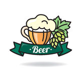 Beer logo Stock Photography
