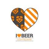 Beer logo love concept design background Stock Image