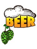 Beer logo- vector illustration, emblem brewery design on isolated background.  Stock Photography