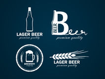 Beer logo Royalty Free Stock Photo