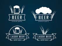 Beer logos Stock Photography