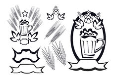 Beer logotype Royalty Free Stock Images