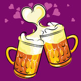 Beer and love Stock Images