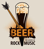 Beer for lovers of rock music Royalty Free Stock Photo