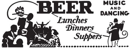 Beer Lunches Dinners Suppers royalty free stock images