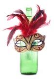 Beer and masquerade mask Royalty Free Stock Photo