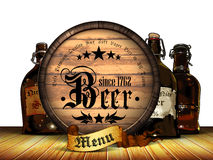 Beer menu background Stock Photography
