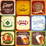 Beer menu banner vintage Stock Photos