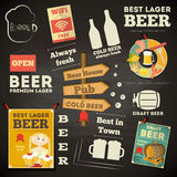 Beer Menu chalkboard design Royalty Free Stock Image
