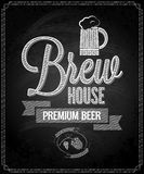 Beer menu design house chalkboard background Royalty Free Stock Images