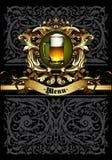 Beer menu design Stock Photos