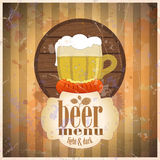 Beer menu design template. Royalty Free Stock Image
