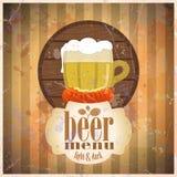 Beer menu design template. Royalty Free Stock Image