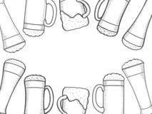 Beer menu design template Royalty Free Stock Image