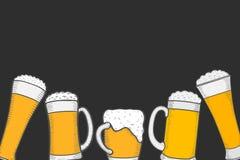 Beer menu design template Stock Photography