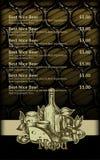 Beer menu design Royalty Free Stock Image