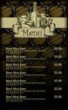 Beer menu design Stock Images