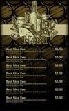 Beer menu design Stock Photo
