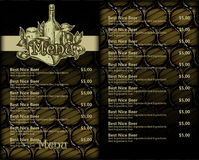 Beer menu design Royalty Free Stock Photo