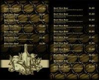 Beer menu design Stock Image