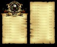 Beer menu Stock Photos