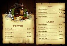 Beer menu Royalty Free Stock Image