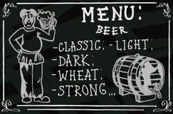 Beer menu Royalty Free Stock Photo