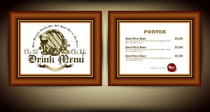 Beer menu Royalty Free Stock Images