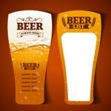 Beer menu glass Royalty Free Stock Photos