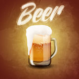 Beer menu glass COLD Royalty Free Stock Photography