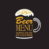 Beer menu Royalty Free Stock Photography