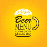 Beer menu Stock Photography