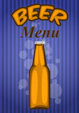 Beer menu Stock Images